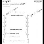 CAFIM aliuminių profilių sistemos komplektas nr.1