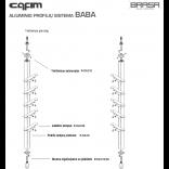 CAFIM aliuminių profilių sistemos komplektas nr.2