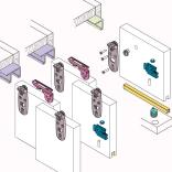 Stumdomų durų sistema 1010