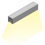 Profilis CUBE bazinis su grioveliu LED juostai