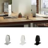 Laikiklis stalo pertvarai fiksuojamas ant 2 stalviršių