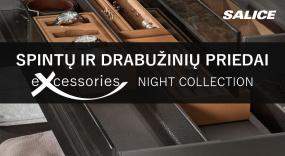 """Katalogas. Spintų ir drabužinių priedai """"SALICE excessories - Night collection"""""""